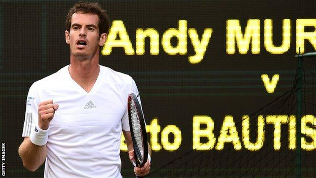 Andy Murray on Wimbledon Centre Court