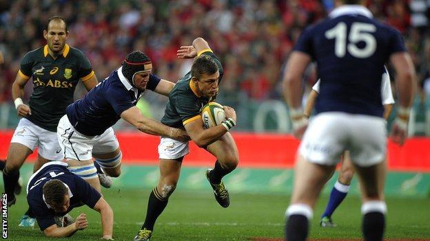 Scotland struggled against a dominant South Africa side