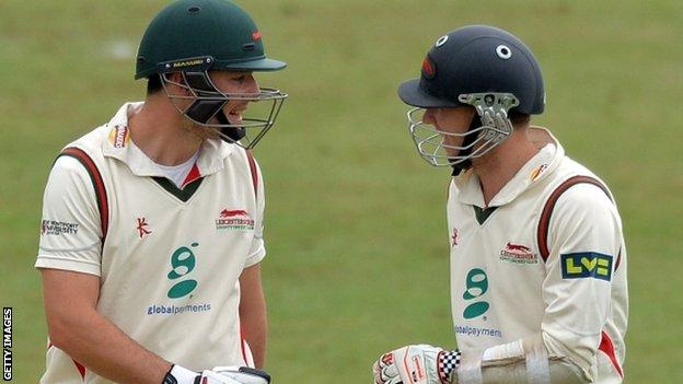 """Leicestershire""""s Greg Smith (L) and Angus Robson"""