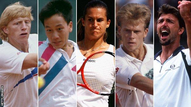 Becker, Chang, Mauresmo, Edberg, Ivanisevic