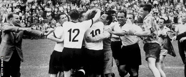 West Germany win World Cup in 1954