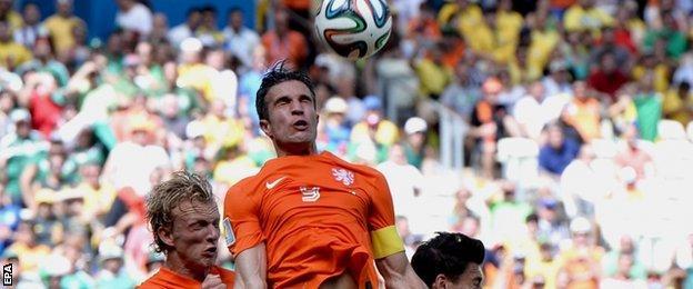 Netherlands striker Robin van Persie