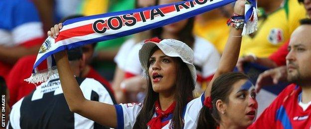 Costa Rica fans
