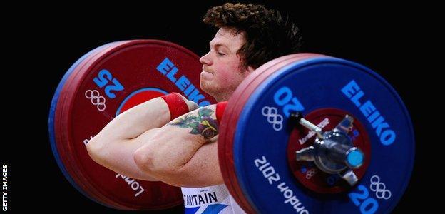 English weightlifter Jack Oliver