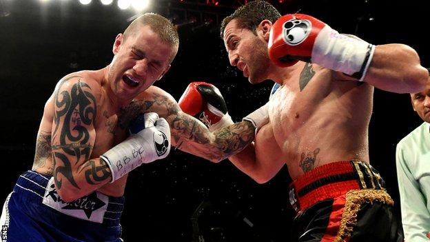 Ricky Burns lost a split decision against Montenegrin Dejan Zlaticanin on Friday