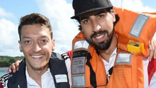 Mesut Ozil and Sami Khedira