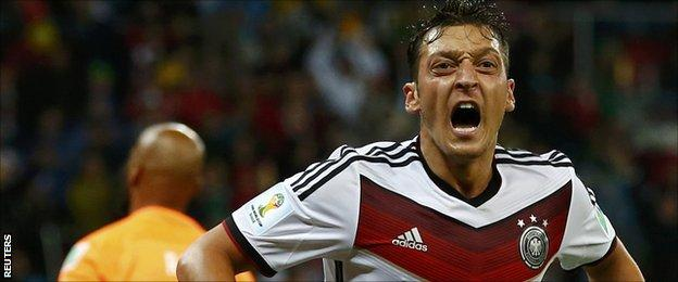 Mesut Ozil scored what proved to be the winner