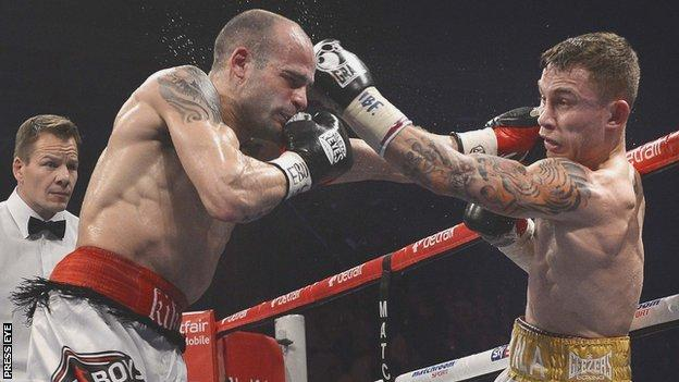 Kiko Martinez and Carl Frampton exchange punches in last year's fight