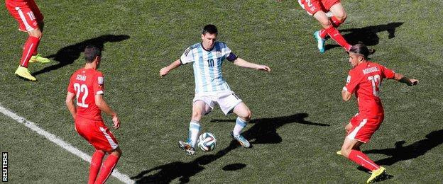 Argentina v Switzerland: Lionel Messi