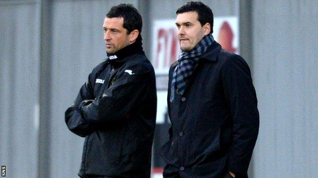 Jack Ross (left) has left Dumbarton for Hearts