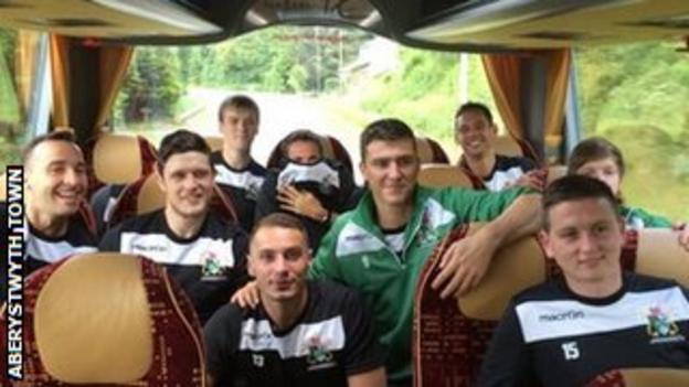 Aberystwyth Town players