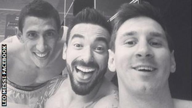 Lionel Messi and colleagues