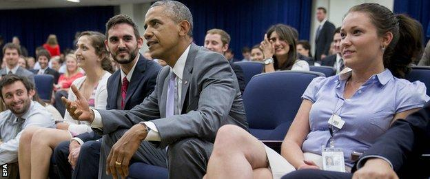 President Obama Watches USA vs Belgium World Cup Game with his staff