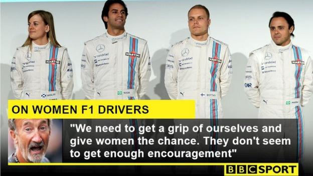 Susie Wolff lines up for the Williams team