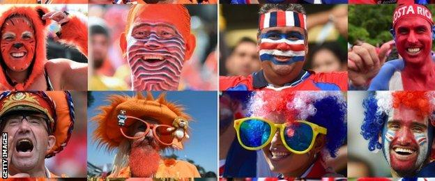 Netherlands and Costa Rica fans