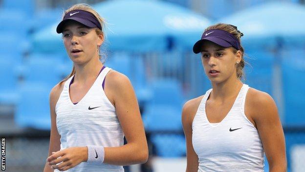 Katie Boulter and Ivana Jorovic