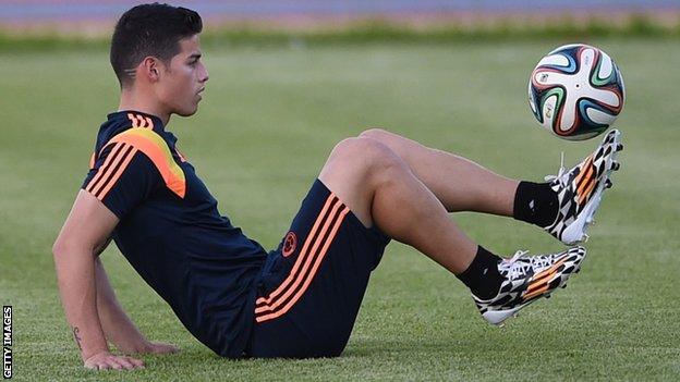 Colombia midfielder James Rodriguez