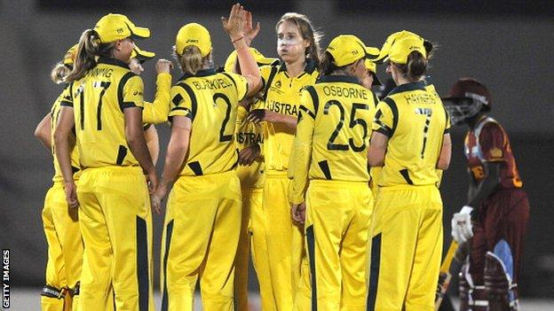 Australia beat West Indies to win the 2013 World Cup