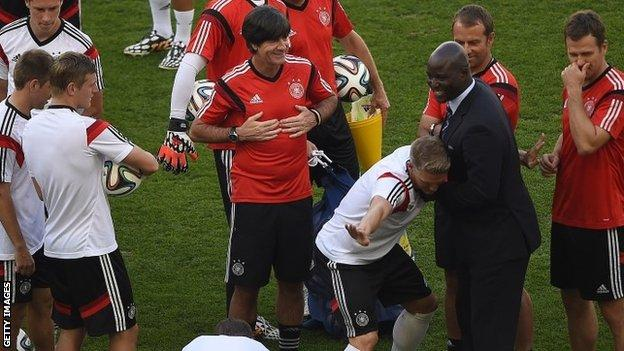 Germany training session on Thursday