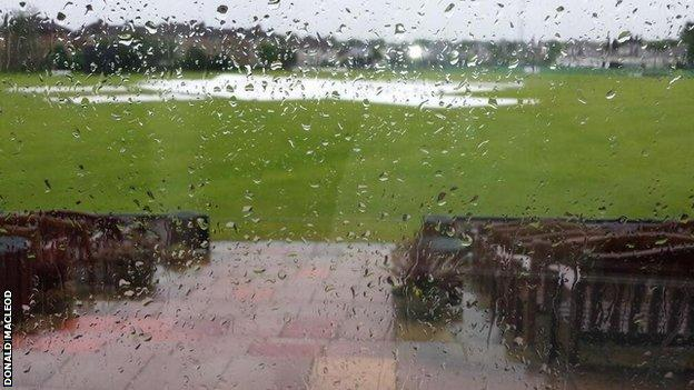 Scotland's final match with the Netherland was abandoned