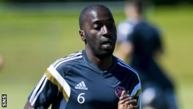 Hearts midfielder Morgaro Gomis