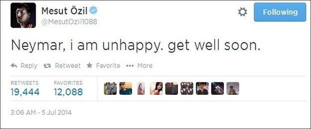 Mesut Ozil Twitter