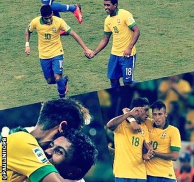 Paulinho's Twitter tribute to Neymar