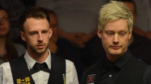 Judd Trump and Neil Robertson