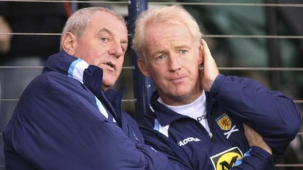 Former Scotland manager Walter Smith and his assistant Tommy Burns