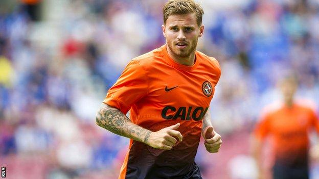 David Goodwillie during his loan stint with Dundee United last season