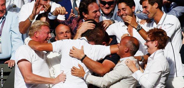Wimbledon 2014: Novak Djokovic and coach Boris Becker