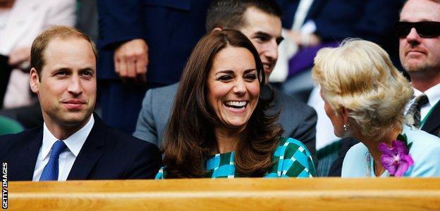Wimbledon 2014: Duke and Duchess of Cambridge