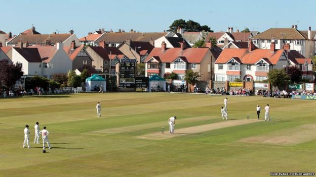 Colwyn Bay Cricket Club at Rhos on Sea hosts Glamorgan's County Championship Division Two game against Surrey.