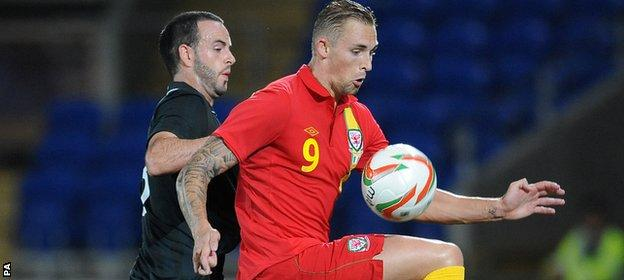 Jack Collison in action for Wales