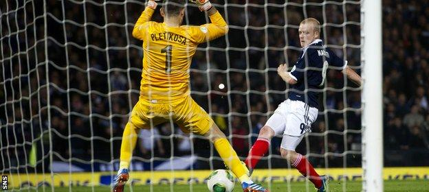 Steven Naismith was on target as Scotland beat Croatia 2-0 at Hampden in World Cup qualifying last year