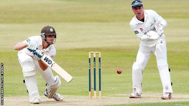 Surrey batsman Zafar Ansari against Glamorgan