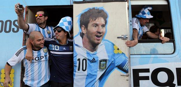 Argentina fans at the 2014 World Cup