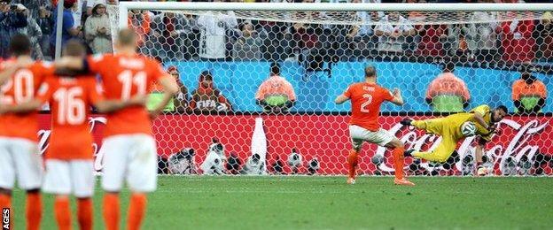 Ron Vlaar sees his penalty saved