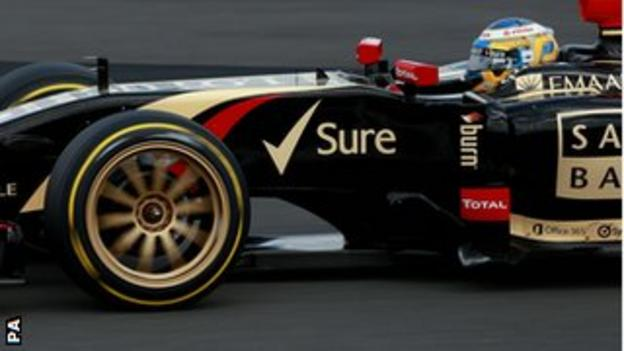 Charles Pic tests new Pirelli tyres for Lotus