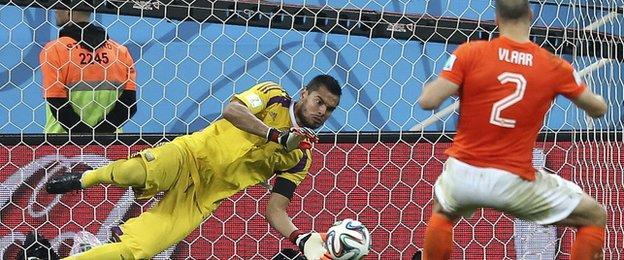 Ron Vlaar misses his penalty