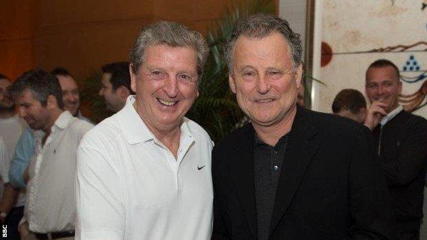 Mike Ingham with Roy Hodgson