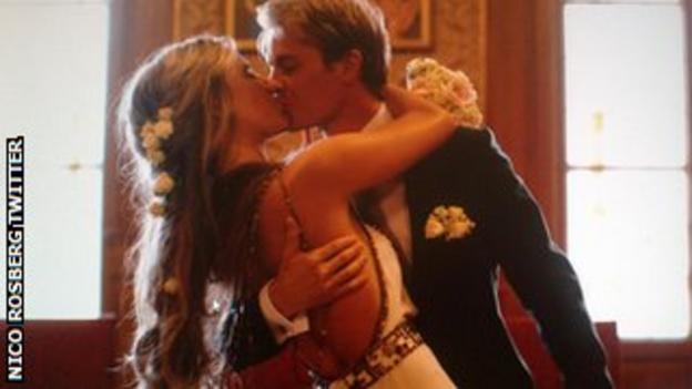 Nico Rosberg at his wedding