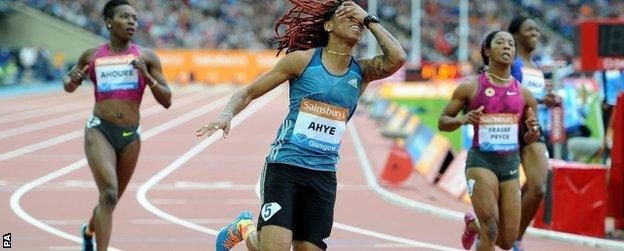 Trinidad's Michelle-Lee Ahye, winner of the women's 100m, is the fastest woman in the world this year