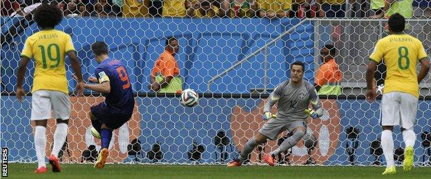 The goals Brazil conceded against the Netherlands takes the total they have conceded at this tournament to 14 goals - the most they have let in at a single World Cup
