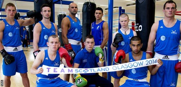 Team Scotland's boxers are out to secure a medal haul at the Glasgow Commonwealth Games