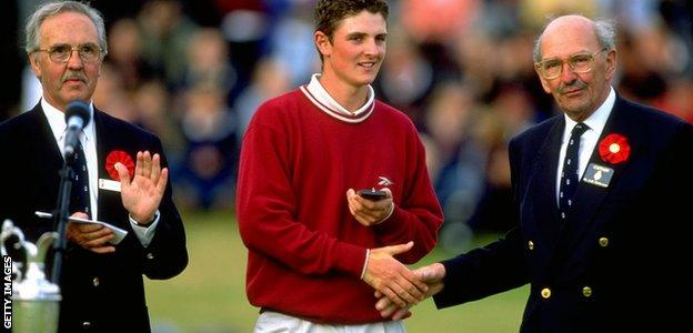 Justin Rose secured the silver medal for the top amateur at the Open at Royal Birkdale in 1998