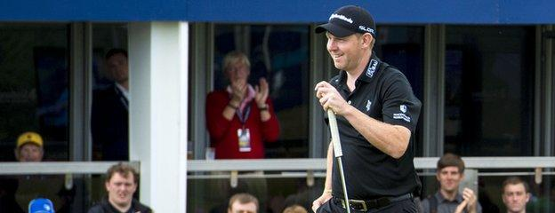 Stephen Gallacher was all smiles after hitting a course-record equalling 63 at Royal Aberdeen