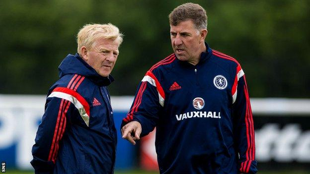Scotland manager Gordon Strachan with assistant Mark McGhee