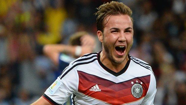 Germany's Mario Gotze, who scored the tournament-winning goal in the final against Argentina