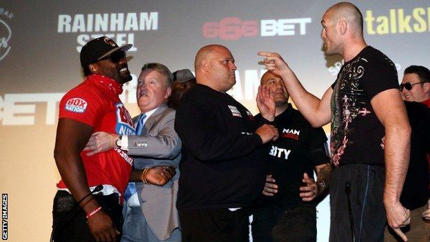 Dereck Chisora and Tyson Fury